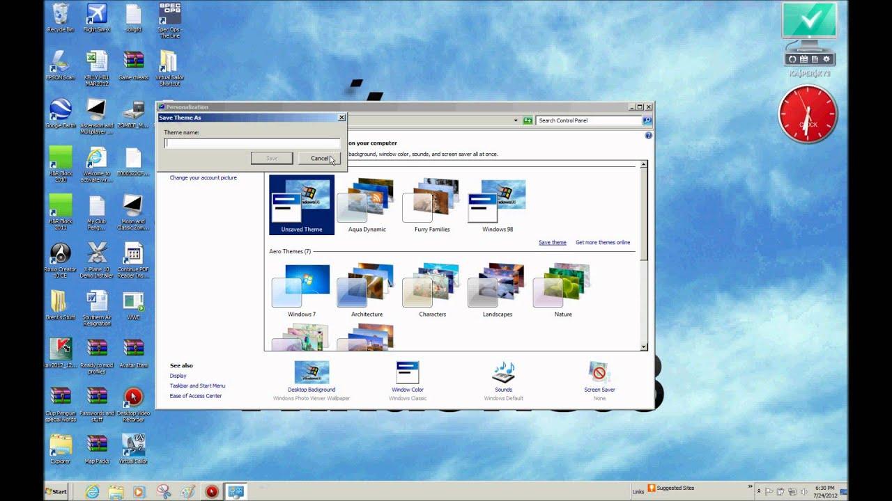 how to make your windows 7 theme look like windows 98