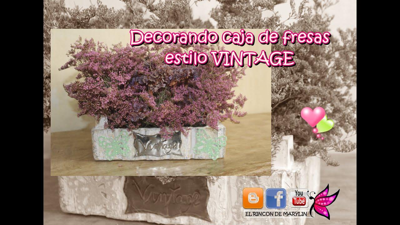 Caja de fresas decorada manualidades faciles con material - Manualidades decorar cajas de madera ...