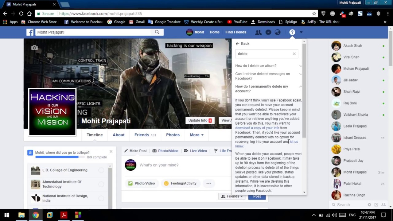 How to delete facebook account permanently in just 14 days youtube how to delete facebook account permanently in just 14 days ccuart Gallery