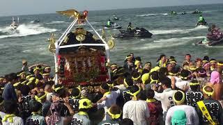 30年  茅ケ崎 浜降祭   本社神輿海上渡御。 thumbnail