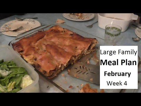 Large Family Dinner Menu Meal Plan-February Week 4