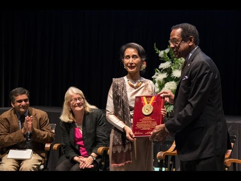 2016 Harvard Humanitarian of the Year Award Ceremony for Aung San Suu Kyi
