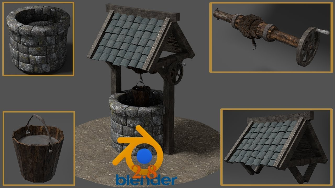 Blender 2 8 Creating your First 3D Game Model Full Course