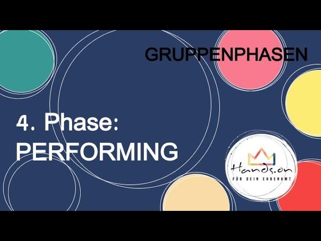 "Gruppenphasen, Teil 5 ""4. Phase: PERFORMING"""