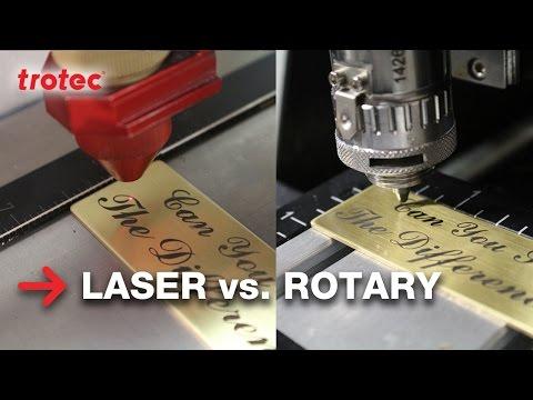 Laser Engraving vs Rotary | Brass Engraving | Trotec