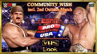"WWE2K19 | VHS Look | Jesse ""The Body"" Ventura VS. ""Superstar"" Billy Graham | Community Wish"