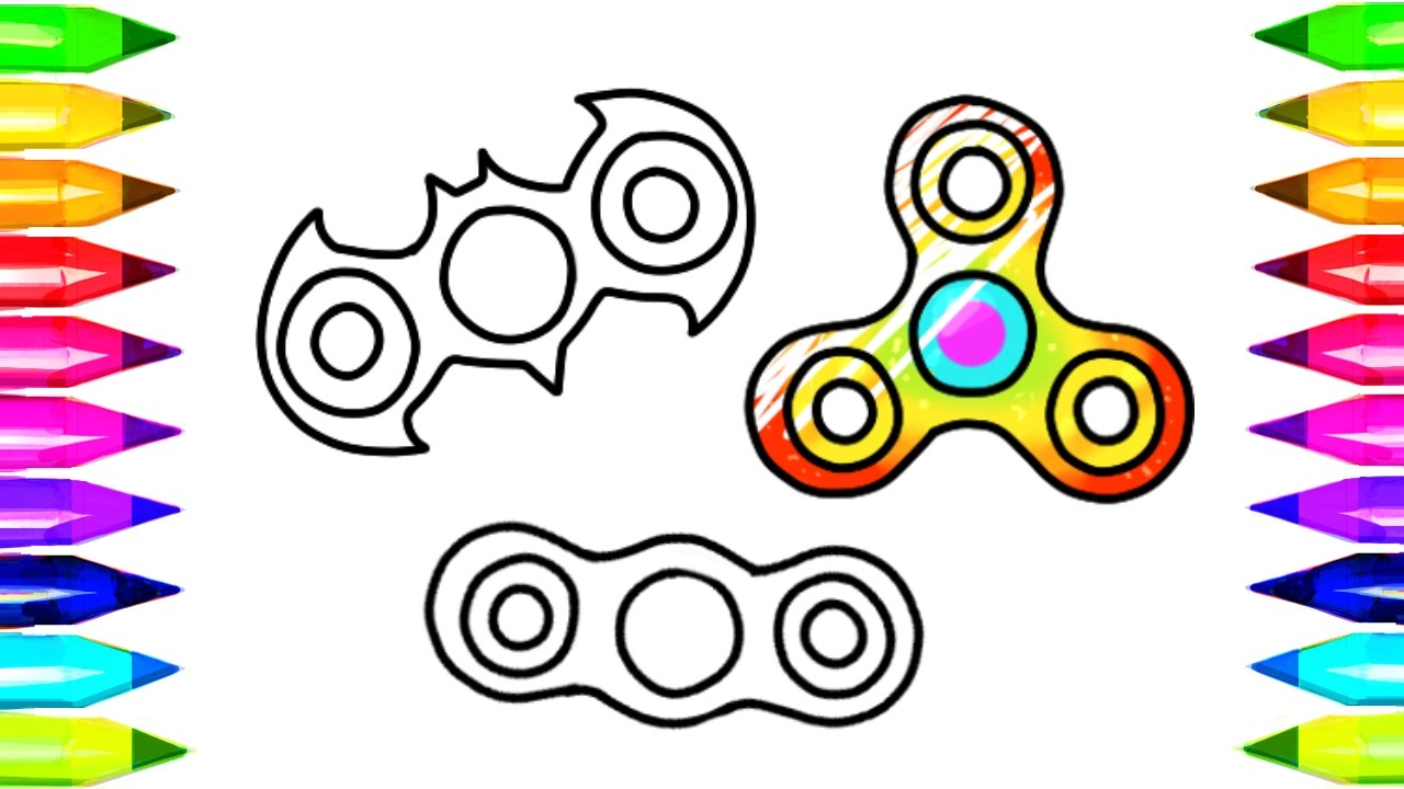Fidget Spinner Drawing And Coloring Pages And How To Make