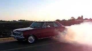 1966 Chevy II Nova SS burnout