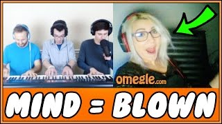 Epic Piano Trio SHOCKS People On Omegle!! (Reactions)