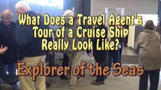 RCL Explorer of the Seas Travel Agent Tour May 2016(What does a travel agent tour of a cruise ship really look like? This video shows what happens on a typical tour of a ship. RCLs Explorer of the Seas is the ..., 2016-05-30T20:57:14.000Z)