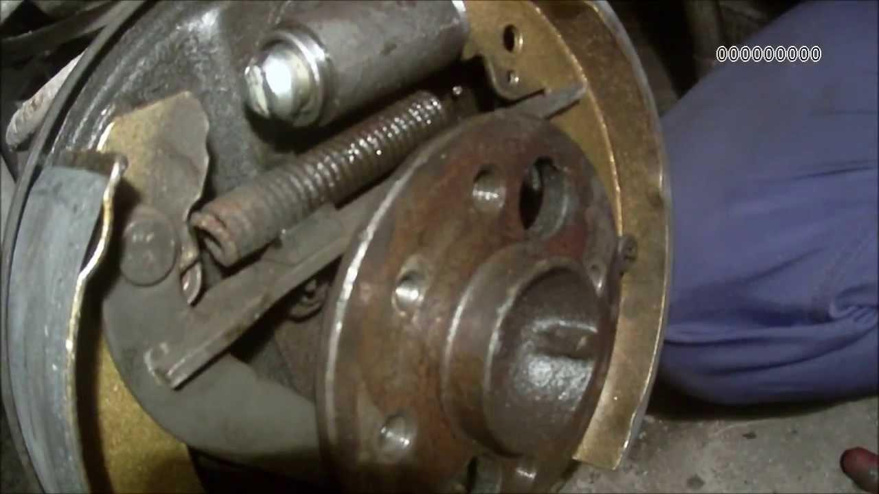 Замена переднего тормозного диска getz