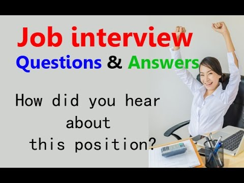 Awesome Job Interview Questions And Answers: How Did You Hear About This Position