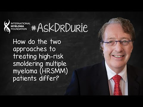 How do the two approaches to treating high-risk smoldering multiple myeloma (HRSMM) patients differ?