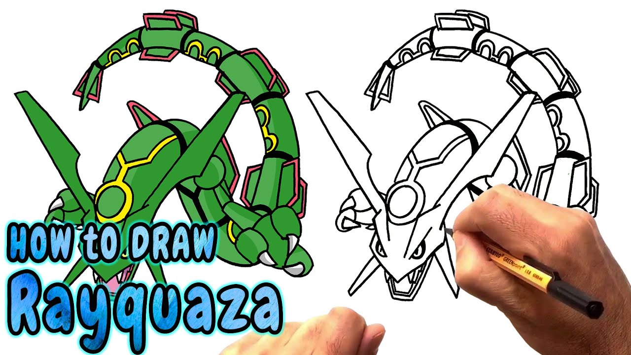 How to Draw Rayquaza from Pokemon (NARRATED) - YouTube