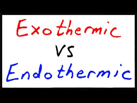 Exothermic vs Endothermic