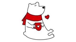 How to draw a polar bear | Как нарисовать белого медведя | Cómo dibujar un oso polar