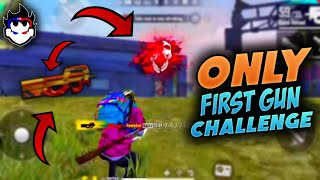 FREE FIRE || ONLY FIRST GUN CHALLENGE ACCEPTED BY TWO SIDE GAMERS || LIVE REACTION