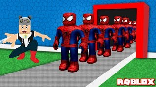 We've built a Spider-Man Superhero Factory! - Roblox Super Hero Tycoon with Panda