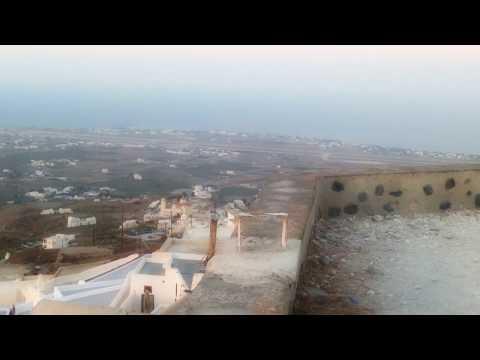 View from Kastelli(Venetian Castle)-- Pyrgos Village, Santorini