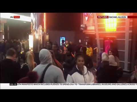 Mass Cinema Brawl In Birmingham (1) (UK) - Sky & BBC News - 24th November 2019