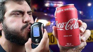 É possível enganar o BAFÔMETRO bebendo COCA-COLA ???