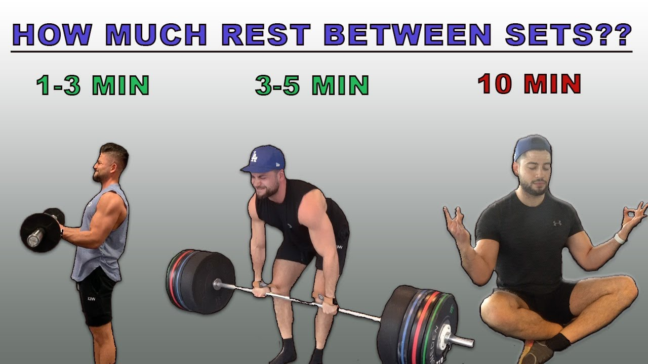How Long Should You Rest Between Sets Short Rest Vs Long Rest For Muscle Growth And Fat Loss Youtube