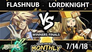 BnB 4 GGXRD - Flashnub (Sin) Vs. bc | LordKnight (Millia) - Guilty Gear XRD Rev 2 Winners Finals