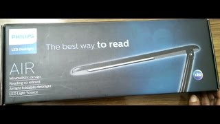 Philips AIR LED Desklight Unboxing and Review Philips LED Table Lamp