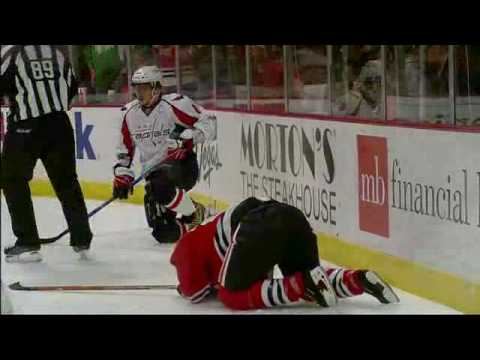 03/14/2010 Alex Ovechkin's Major Boarding on Brian Campbell