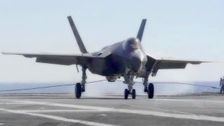 First-ever F-35 Arrested Landings Aboard Aircraft Carrier
