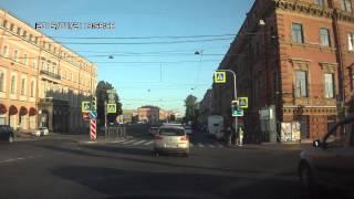 """Санкт-Петербург. Автобус №6. Наличная улица - Станция метро """"Нарвская"""""""