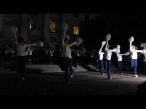 Cal Band Sproul Hall Rally vs. Arizona State 2015 Berkeley California (Lion King Show)