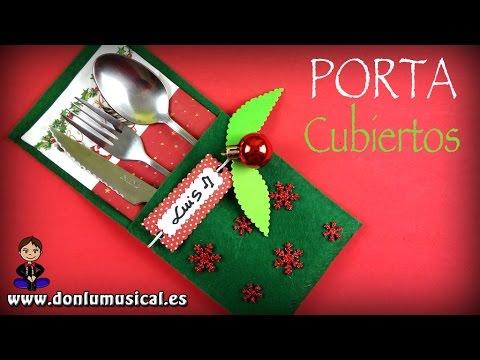 Ideas para decorar tu mesa en navidad portacubiertos de fieltro youtube - Manualidades en fieltro para navidad ...
