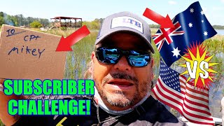 Subscriber Picks My Lures! AUSTRALIA VS AMERICA Bass Fishing Challenge!!