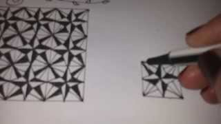 How to draw COMPASS ROSE tangle pattern