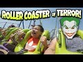 1st TIME ON A GIANT LOOPING ROLLER COASTER!!! Six Flags Discovery Kingdom - The Joker & Medusa!