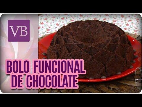 Bolo Funcional de Chocolate - Você Bonita (29/09/16)