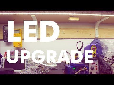 Electronics Workbench LED Lighting Upgrade