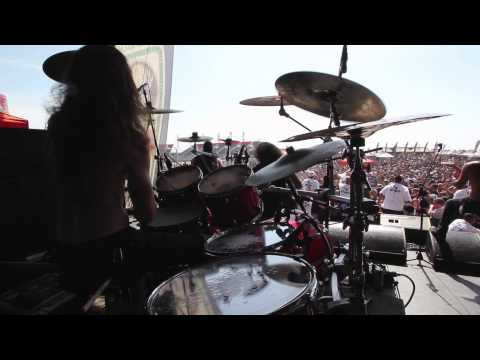 "Job for a Cowboy ""Tarnished Gluttony"" live drum cam"