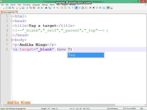 HTML Tag A Target  Top