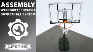Lifetime Speed Shift Portable Basketball System | Model 51544 | Lifetime Assembly Video