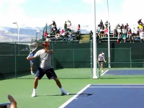 Roger Federer Practice 2013 Slow Motion Indian Wells BNP Par