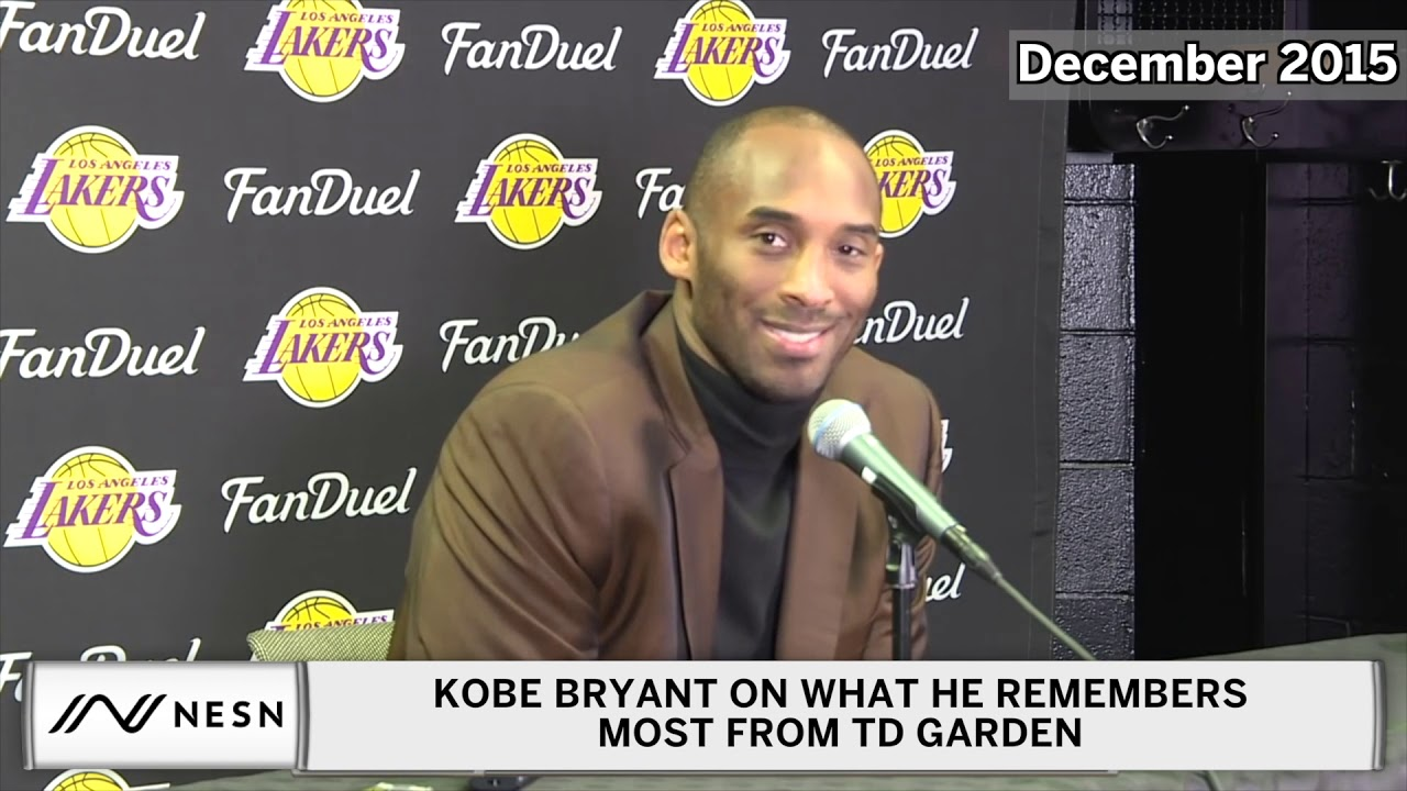 Kobe Bryant's Final TD Garden Press Conference Before Retirement (2015)