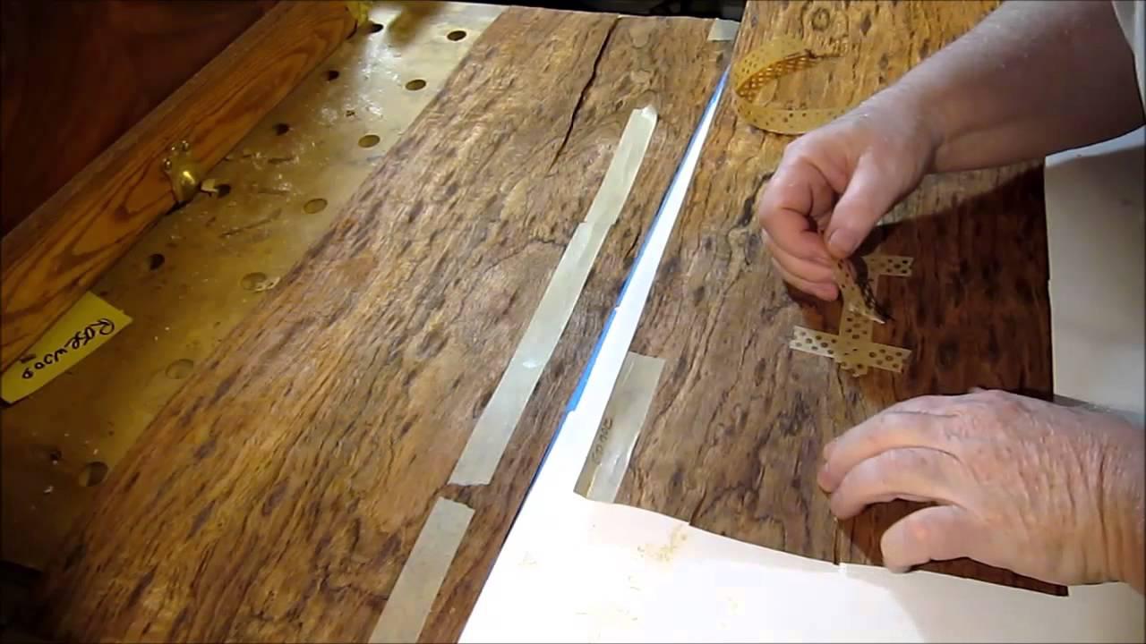 Veneer sheets for cabinets - Wood Veneer Repairing Split Sheets