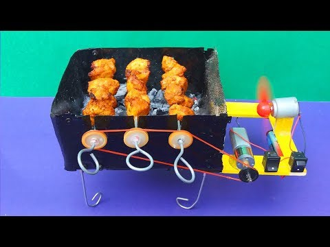 Making BBQ Grill Machine At Home Easily   How To Mini BBQ Grill Machine   DIY Grill Machine