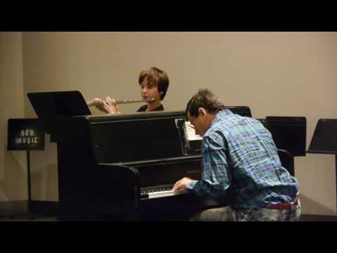 Roman and I playing at the recital
