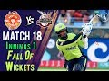 Lahore Qalandars Fall Of Wickets | Lahore Qalandars Vs Islamabad United |Match 18|8 Mar|HBL PSL 2018