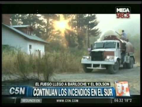 C5N - SOCIEDAD: CONTINUAN LOS INCENDIOS EN EL SUR