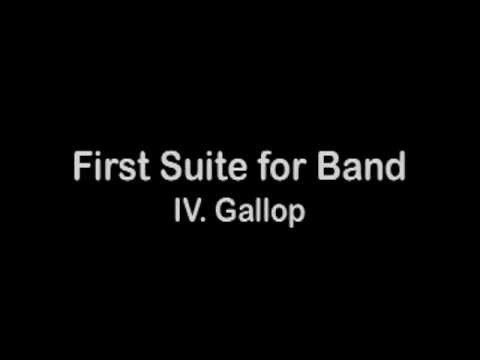 First Suite for Band  IV Gallop — Alfred Reed