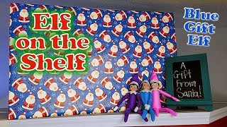 Purple & Pink Elf on the Shelf - I Meet the Real Santa & Blue Gift Elf Brings GIANT PRESENT! Day 11